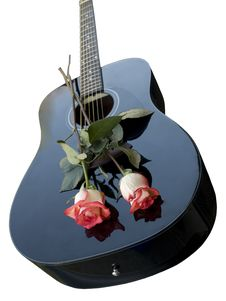 Free Guitar And Roses Royalty Free Stock Photo - 7852825