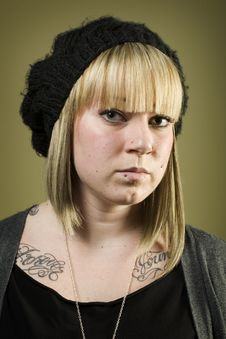 Free Portrait Of Pretty Girl With Tattoos Royalty Free Stock Photos - 7852878