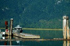 Dock At Pitt Lake Royalty Free Stock Photo