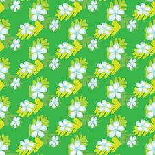 Free Seamless Background With Leaves And Flowers Stock Photography - 7852932