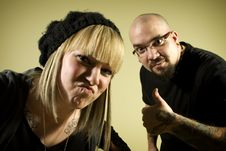 Free Portrait Of Two People With Tattoos Royalty Free Stock Images - 7852949