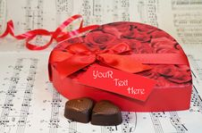 Free Heart Shaped Box Of Chocolates With Red Ribbon Royalty Free Stock Photography - 7852977
