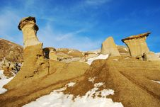 Free Hoodoos In Different Shapes Royalty Free Stock Photography - 7853387
