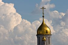 Free Church Cupola On Sky Background Stock Photography - 7853432