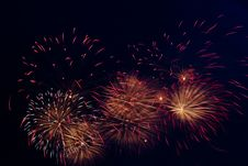 Free Fireworks On Black Stock Photography - 7853452