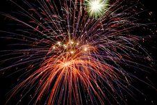 Free Fireworks On Black Royalty Free Stock Photo - 7853465