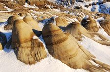 Free Hoodoos In Snow Royalty Free Stock Image - 7853606