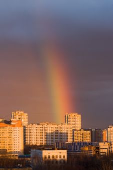 Free Rainbow In A City Stock Images - 7853694