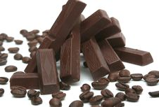 It Is A Lot Of Chocolate And Coffee Grains Stock Images