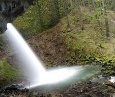 Free Rear View Of A Beautiful Waterfall Stock Image - 7854091
