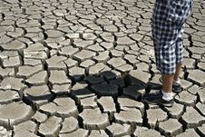 Free Cracked Ground  / Stop The Environmental Pollution Stock Photography - 7854362