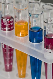 Free Group Of Test Tubes Royalty Free Stock Photos - 7854568
