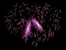 Free Firework Heart Stock Photography - 7854642