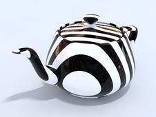 3d Isolated Teapot Royalty Free Stock Photo