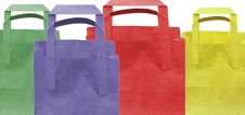 Free Coloured Shopping Bags Royalty Free Stock Photography - 7855197