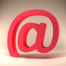 Free 3d Red E Mail Sign Royalty Free Stock Image - 7855216