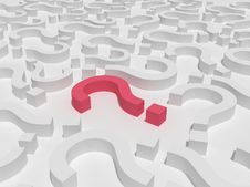Free 3d Red Question Sign Field Royalty Free Stock Photo - 7855225