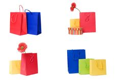 Presents Or Shopping Bags Collection Stock Photography