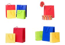 Presents Or Shopping Bags Collection Royalty Free Stock Images