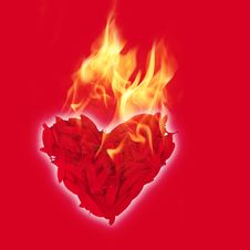 Free Flaming Heart Royalty Free Stock Photo - 7855715