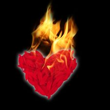 Free Flaming Heart Stock Images - 7855864