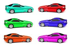 Free Coloured Cars Royalty Free Stock Photography - 7855917