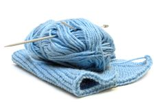 Free Two Knitting Needles, Woollen Yarn Clew, Knitting. Royalty Free Stock Photo - 7855995