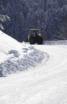 Free Big Winter Plow Royalty Free Stock Photos - 7855998