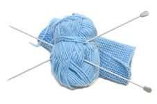 Free Two Knitting Needles, Woollen Yarn Clew, Knitting. Royalty Free Stock Image - 7856016