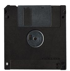 Back Black Floppy Stock Images