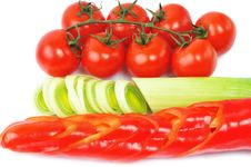 Free Pepper, Onion, Tomatos Royalty Free Stock Images - 7856279