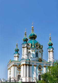 Free Christianian Church Over Blue Stock Photos - 7856873