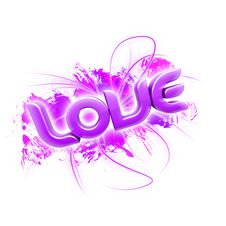 Free 3D Illustration Of The Word Love Pink 2 Royalty Free Stock Photo - 7857235
