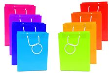 Free Coloured Shopping Bags Royalty Free Stock Photography - 7857297