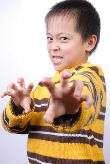 Free Asia Boy Ready To Fight Stock Images - 7857304