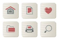 Free Basic Icons | Cardboard Series Royalty Free Stock Photo - 7857455