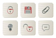 Free Toolbar And Interface Icons | Cardboard Series Stock Image - 7857461