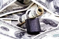 Free Dollar At Locking Stock Image - 7857541