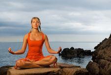 Free Woman Doing Yoga Exercise Stock Photos - 7857803