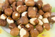 Free Filbert (hazelnut) On Saucer Stock Photos - 7858023