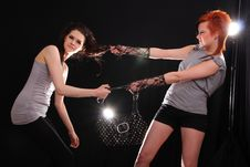 Free Two Models In Colorful Setting In The Studio Stock Photos - 7858263