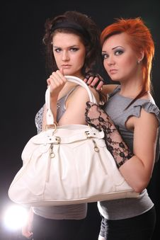 Free Two Models In Colorful Setting In The Studio Stock Images - 7858264