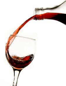 Free Pouring Red Wine In Glass Stock Image - 7858321