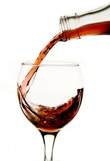 Free Pouring Red Wine In Glass Stock Images - 7858364