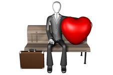 Free 3d Man And His Huge Heart Stock Photo - 7858660