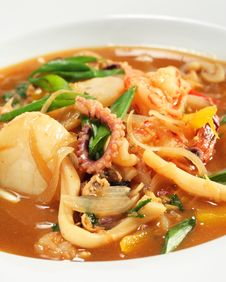 Spicy Thai Seafood Soup Royalty Free Stock Photos