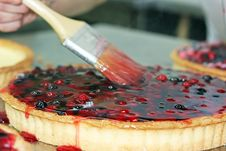 Berry Cake Stock Images