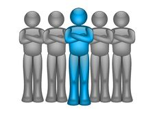 Free Blue Leader Stock Image - 7859831