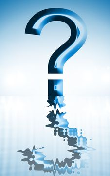 Free Question Water Royalty Free Stock Photography - 7859977