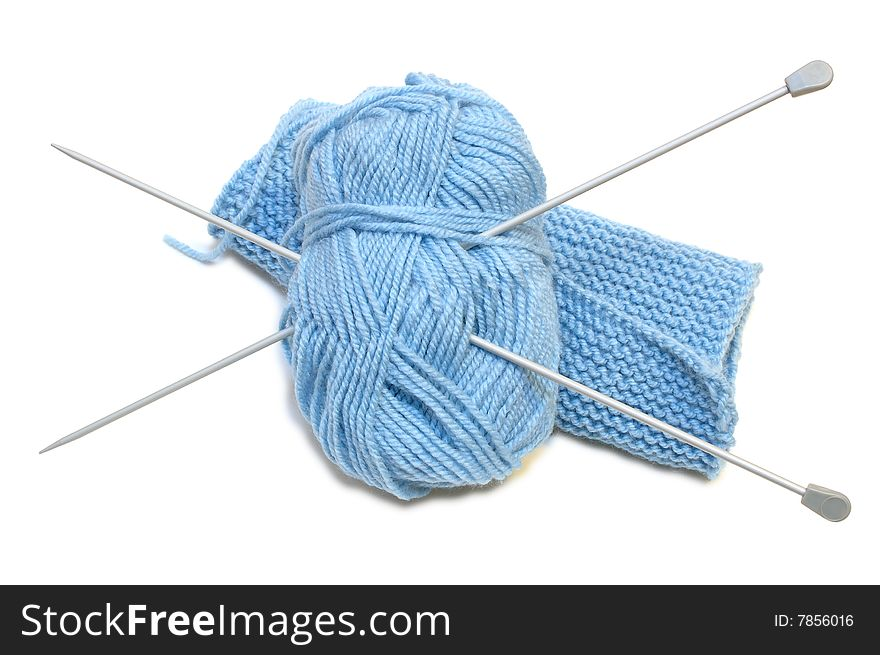 Two Knitting Needles Woollen Yarn Clew Knitting Free Stock Images Photos 7856016 Stockfreeimages Com